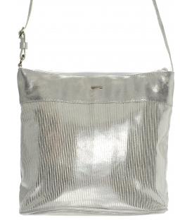 Sivo-béžová crossbody taška so vzorom M193 - Grosso