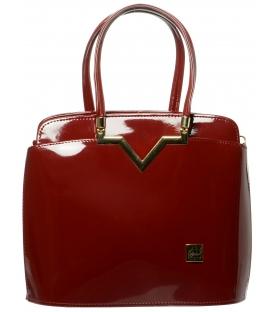 Červená lakovaná kabelka S482 - Grosso