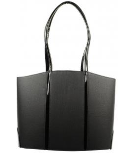 Čierna matná kabelka s dlhými ušami S536