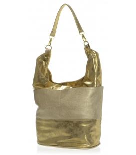 Zlatá kabelka s matným stredom S580 - Grosso