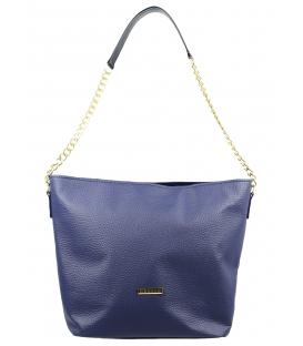 Modrá matná kabelka s retiazkou S569   Grosso