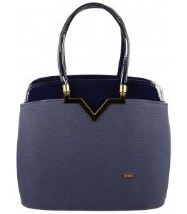 Modrá elegantná kabelka s jemnou potlačou S482 - Grosso
