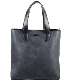 Modrá mramorová vysoká kabelka S568 Grosso