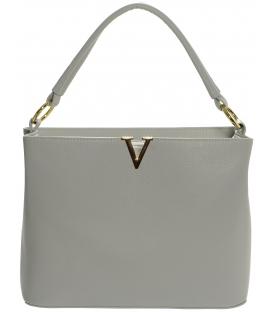 Sivá kabelka so zlatou ozdobou S591 - Grosso