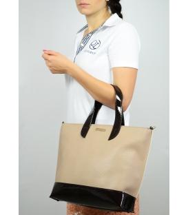 Hnedá väčšia kabelka cez rameno S590 - Grosso