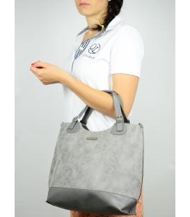 Sivá mramorová dámska kabelka S581 - Grosso
