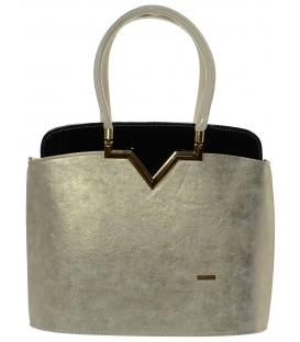 Zlato-čierna elegantná kabelka S482 - Grosso