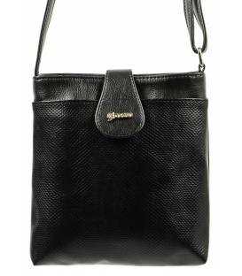 Čierna matná crossbody taška s hadím vzorom M65 - Grosso