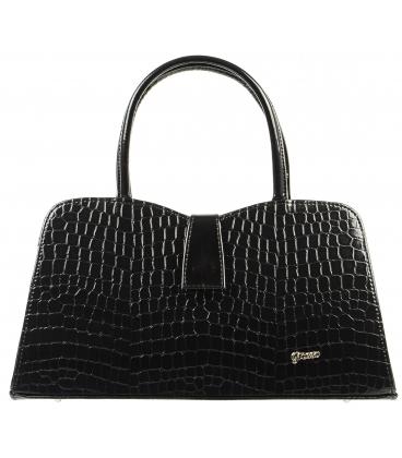 Hnedá menšia kabelka s potlačou S283 - Grosso