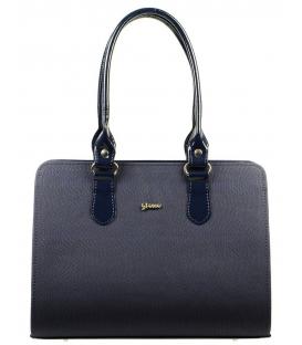 Modrá vrúbkovaná kabelka S565 Grosso