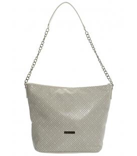 Béžová kabelka so vzorovaním S569 krata   Grosso