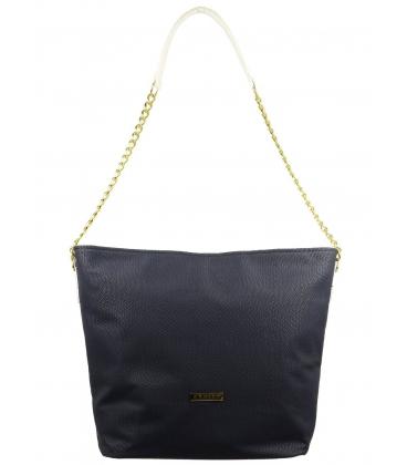 Modro biela kabelka cez rameno s retiazkou S569   Grosso