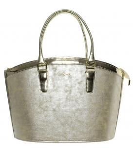 Zlatá elegantná kabelka do ruky S505   Grosso