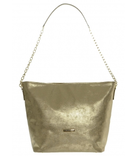 Zlatá patinovaná kabelka s retiazkou S569 Grosso