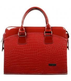 Červená taška na notebook 15,6´´ s kroko vzorom ST01   Grosso
