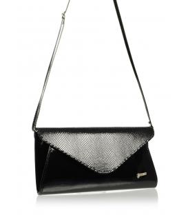 Čierna spoločenská kabelka s hadím vzorom SP126   Grosso