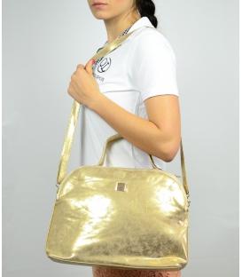 Zlatá menšia kabelka so športovým lukom S584