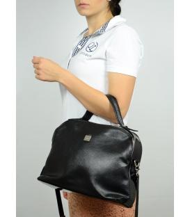 Čierna menšia kabelka so športovým lukom S584