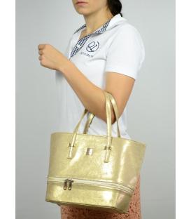 Malá zlatá kabelka do ruky S585 - Grosso
