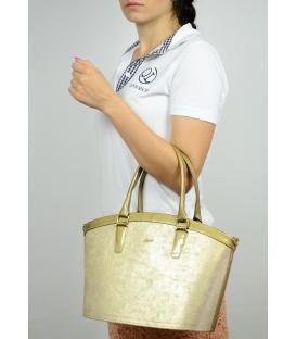 Zlatá elegantná kabelka S505 - Grosso