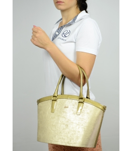 Zlatá elegantní kabelka do ruky S505 Grosso