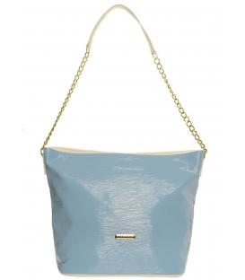 Modrá pastelová kabelka so zlatou retiazkou S569   Grosso