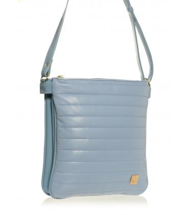Modrá pastelová crossbody taška s prešívaním M188   Grosso