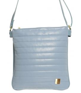 Modrá pastelová crossbody taška s prošíváním M188 Grosso