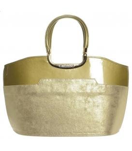 Zlatá metalická kabelka S5 - Grosso