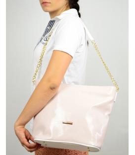 Starorůžová kabelka s řetízkem S569 Grosso
