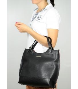 Čierno-červená dámska kabelka S581 - Grosso