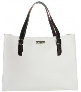 Bielo-čierna široká kabelka S573 - Grosso