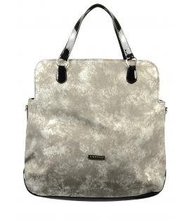 Béžová mramorová veľká kabelka S575 - Grosso