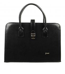 Čierna aktovková kabelka s mozaikou S563   Grosso
