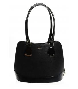 Čierna vystužená elegantná kabelka S608 -Grosso