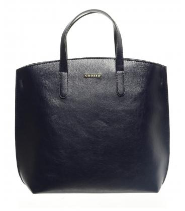 Modrá elegantná kabelka v anglickom štýle  S612 - Grosso