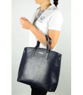 Modrá elegantní kabelka v anglickém stylu S612 - Grosso