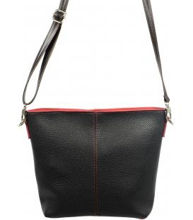 Čierna crossbody kabelka s červeným lemom 326 - Grosso