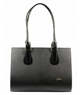 Čierna veľká kabelka s dlhými rúčkami S61 mat   Grosso