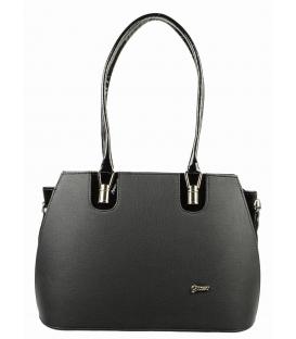 Čierna matná kabelka cez rameno S530   Grosso