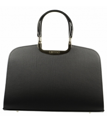 Elegantní černá matná kabelka S6 Grosso