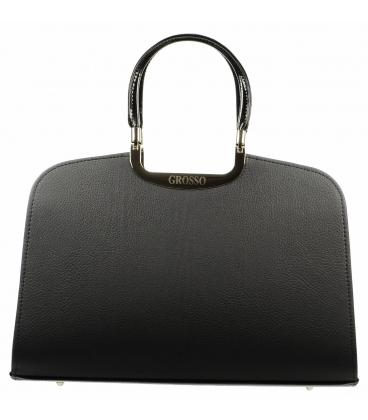 Elegantná čierna matná kabelka S6   Grosso