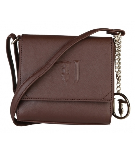 Gaštanovo-hnedá elegantná crossbody taška - TRUSSARDI