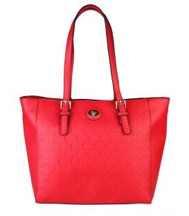 Červená elegantná anglická kabelka - Pierre Cardin