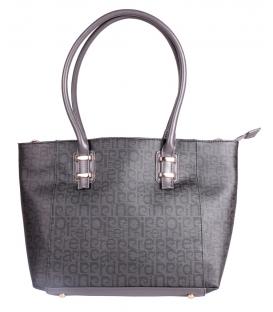 Šedá lesklá luxusná kabelka - Pierre Cardin