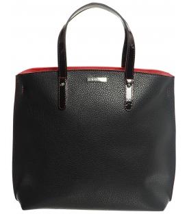 Černo-červená elegantní kabelka v anglickém stylu S612 - Grosso
