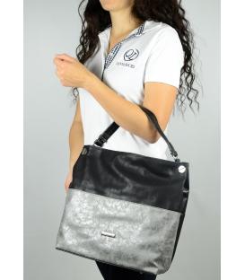 Černo-stříbrná metalická kabelka S 613 - Grosso