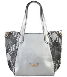 Dámska elegantná kabelka v striebornéj farbe - Pierre Cardin