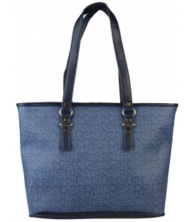 Modrá väčsia kabelka s potlačou  - Pierre Cardin