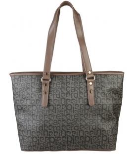 Hnedá väčsia kabelka s potlačou  - Pierre Cardin